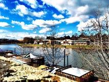 Взгляд на реке Yarra Стоковое Изображение RF