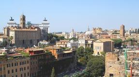 Взгляд над Римом (горизонт) Стоковые Изображения RF