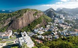 Взгляд на Рио-де-Жанейро от Urca Стоковая Фотография RF