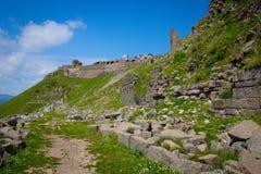 Взгляд над руинами, Пергам Стоковое фото RF