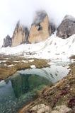 Взгляд на саммите горных вершин (доломиты) Стоковые Фотографии RF