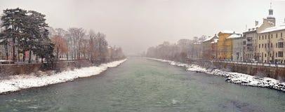 Взгляд на старом городке Инсбрука Стоковые Изображения RF