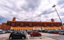 Взгляд на стадионе Luigi Ferraris стоковое изображение rf