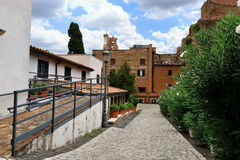 Взгляд на стене dei Martiri Angeli e degli Santa Maria базилики Стоковое фото RF