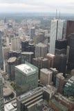 Взгляд над Торонто от башни CN Стоковое Изображение RF