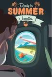 Взгляд на тропическом пляже от самолета Стоковые Изображения RF