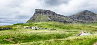 Взгляд на Фарерских островах Стоковое Фото