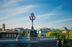 Взгляд на фонарике в Москве Стоковое Изображение RF