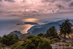Взгляд над французской ривьерой Стоковые Фотографии RF