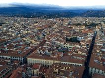 Взгляд на Флоренсе от купола Santa Maria del Fiore Стоковое Изображение