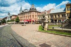 Взгляд на центральной улице Kosice Стоковое фото RF
