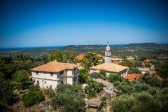 Взгляд на церков и крышах Стоковые Изображения
