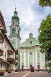 Взгляд на церков Dobbiaco Стоковое фото RF