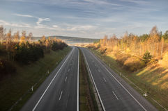 Взгляд на шоссе Стоковое Изображение RF