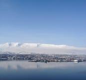 Взгляд над Akureyri Стоковое Изображение