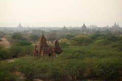 Взгляд над Bagan, Мьянмой стоковые изображения