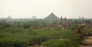 Взгляд над Bagan, Мьянмой стоковое фото rf