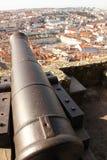 Взгляд над Baixa и Avenida от Castelo de Sao Джордж. Лиссабон. Португалия Стоковые Фотографии RF