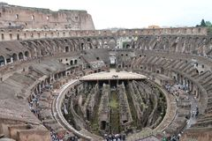 Взгляд над colosseum Стоковое Изображение