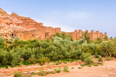 Взгляд на Kasbah Ait Benhaddou - Марокко Стоковые Фотографии RF