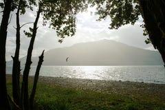 Взгляд над Lago Maggiore, Италией Стоковое Изображение RF