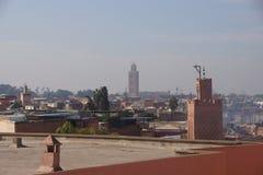 Взгляд над Marrakech стоковые изображения