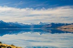Взгляд на Mt Кашевар в Новой Зеландии Стоковое Изображение RF