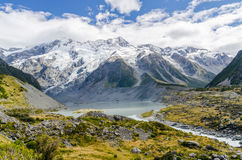 Взгляд на Mt След кашевара в Новой Зеландии Стоковое Изображение