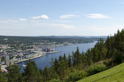 Взгляд над Oernskoldsvik Швецией Стоковые Фотографии RF