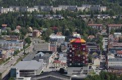 Взгляд над Oernskoldsvik Швецией Стоковое Изображение RF