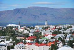 Взгляд над Reykjavik Стоковые Фотографии RF