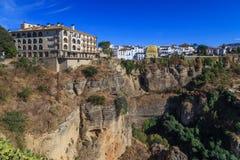 Взгляд на Ronda, Испании Стоковое Изображение