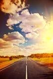 Взгляд на stile instagram дороги Стоковое Изображение