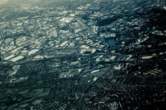 Взгляд неба Манчестера стоковая фотография rf