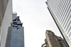 Взгляд небоскреба городского пейзажа из-под Стоковая Фотография