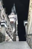 Взгляд низкого угла башни ратуши Гамбурга стоковое изображение