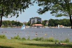 Взгляд Норт-Сайд озера Calhoun Стоковые Изображения