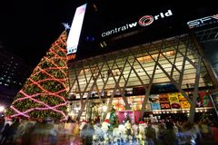 Взгляд ночи Бангкока Стоковая Фотография