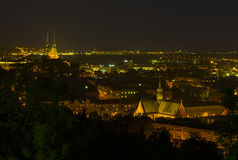 Взгляд ночи Брна Стоковое Изображение