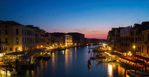 Взгляд ночи Венеции Стоковые Фото