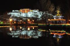 Взгляд ночи дворца Potala Стоковое Фото