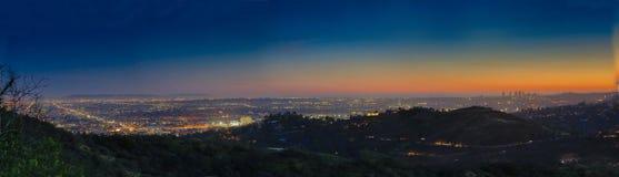 Взгляд ночи в Лос-Анджелесе стоковая фотография rf
