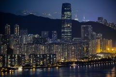 Взгляд ночи Гонконга Стоковое Изображение