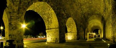 Взгляд ночи города ираклиона Стоковая Фотография RF