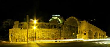 Взгляд ночи города ираклиона Стоковые Фотографии RF
