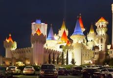 Взгляд ночи города Лас-Вегас, Невада Стоковые Фотографии RF