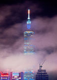 Взгляд ночи города Тайбэя стоковое изображение rf