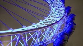 Взгляд ночи глаза Лондона видеоматериал