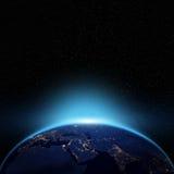 Взгляд ночи глобуса Стоковая Фотография
