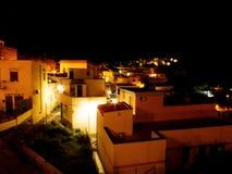 Взгляд ночи деревни рыболовов Стоковые Изображения RF